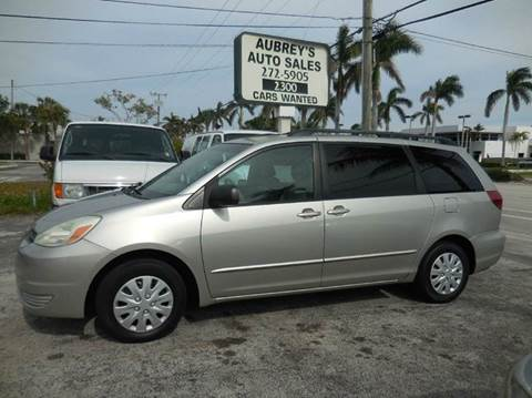 2004 Toyota Sienna for sale at Aubrey's Auto Sales - Vans in Delray Beach FL