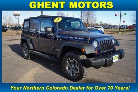 used 2013 jeep wrangler unlimited for sale in colorado. Black Bedroom Furniture Sets. Home Design Ideas