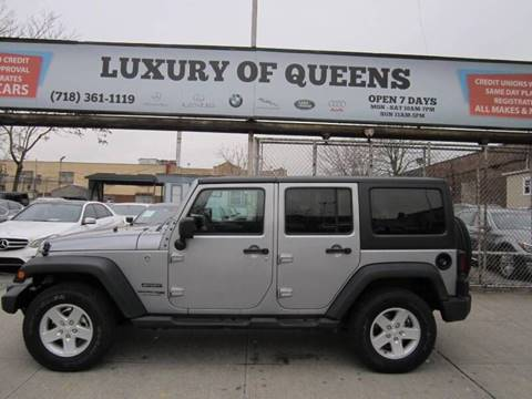 2018 Jeep Wrangler Unlimited for sale at LUXURY OF QUEENS,INC in Long Island City NY