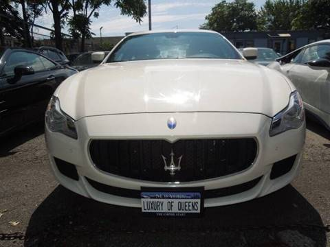 2015 Maserati Quattroporte for sale at LUXURY OF QUEENS,INC in Long Island City NY