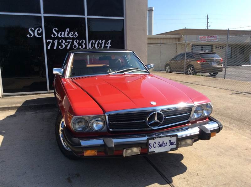 1986 Mercedes-Benz 560-Class for sale at SC SALES INC in Houston TX