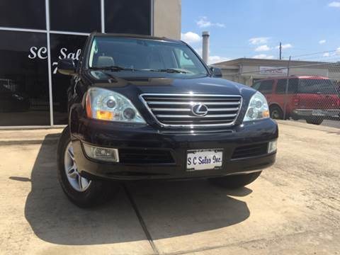 2004 Lexus GX 470 for sale at SC SALES INC in Houston TX