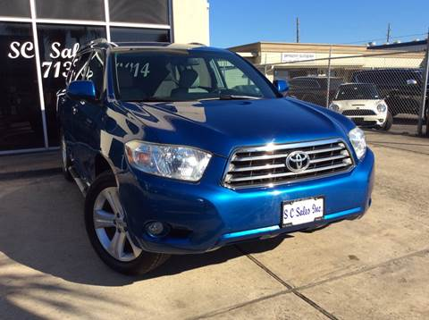 2008 Toyota Highlander for sale at SC SALES INC in Houston TX