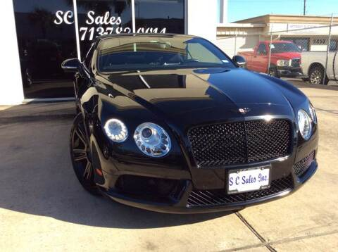2013 Bentley Continental for sale at SC SALES INC in Houston TX