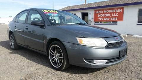 2004 Saturn Ion for sale at Sand Mountain Motors in Fallon NV