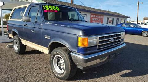 1990 Ford Bronco for sale at Sand Mountain Motors in Fallon NV