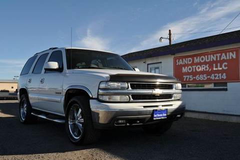 2001 Chevrolet Tahoe for sale at Sand Mountain Motors in Fallon NV