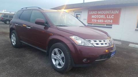 2005 Nissan Murano for sale at Sand Mountain Motors in Fallon NV
