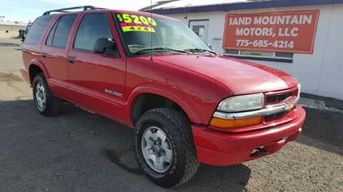 2004 Chevrolet Blazer for sale at Sand Mountain Motors in Fallon NV