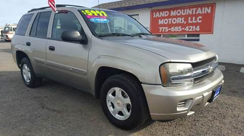 2002 Chevrolet TrailBlazer for sale at Sand Mountain Motors in Fallon NV