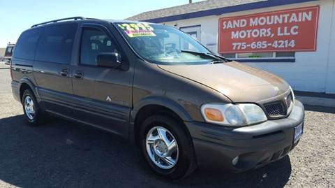 2001 Pontiac Montana for sale at Sand Mountain Motors in Fallon NV