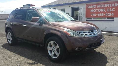 2003 Nissan Murano for sale at Sand Mountain Motors in Fallon NV
