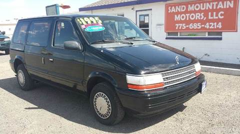 1991 Plymouth Voyager for sale at Sand Mountain Motors in Fallon NV