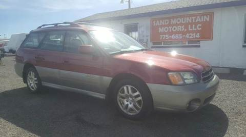2002 Subaru Outback for sale at Sand Mountain Motors in Fallon NV