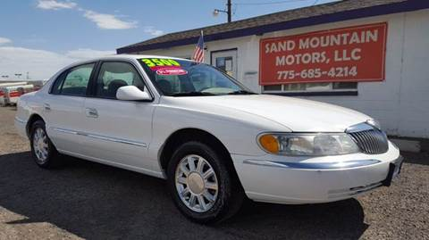 2000 Lincoln Continental for sale at Sand Mountain Motors in Fallon NV