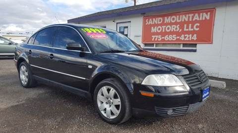 2002 Volkswagen Passat for sale at Sand Mountain Motors in Fallon NV