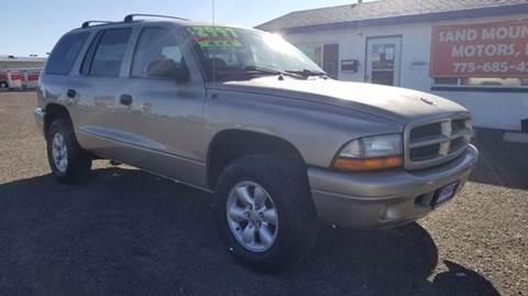 2003 Dodge Durango for sale at Sand Mountain Motors in Fallon NV