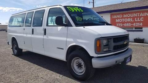 2000 Chevrolet Express Passenger for sale at Sand Mountain Motors in Fallon NV