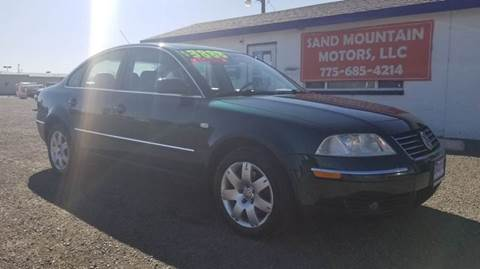 2001 Volkswagen Passat for sale at Sand Mountain Motors in Fallon NV