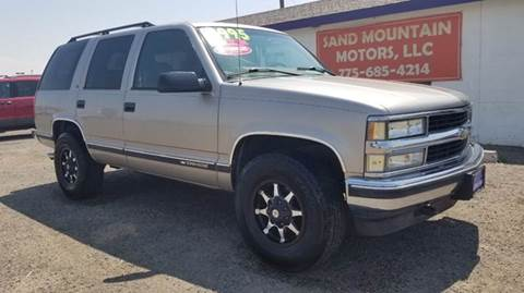 1999 Chevrolet Tahoe for sale at Sand Mountain Motors in Fallon NV