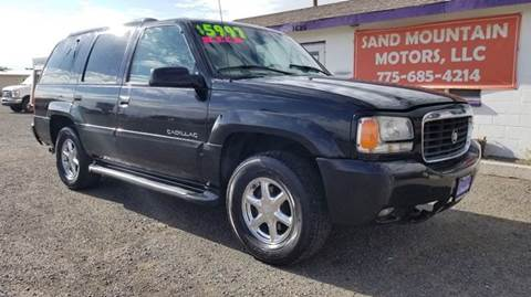 2000 Cadillac Escalade for sale at Sand Mountain Motors in Fallon NV