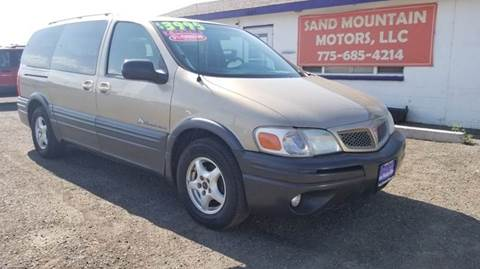 2005 Pontiac Montana for sale at Sand Mountain Motors in Fallon NV