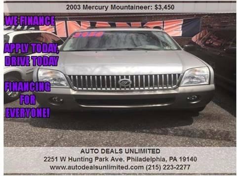 2003 Mercury Mountaineer for sale in Philadelphia, PA