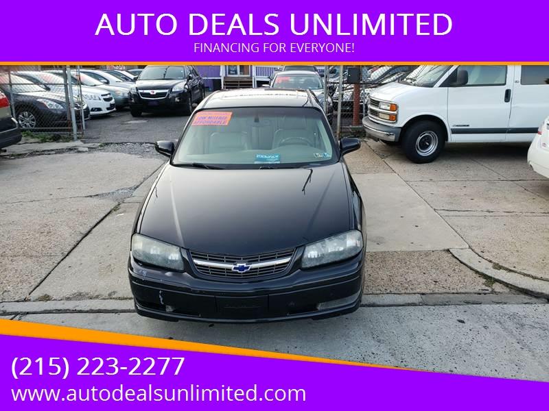 2004 chevrolet impala ss supercharged 4dr sedan in philadelphia pa auto deals unlimited. Black Bedroom Furniture Sets. Home Design Ideas