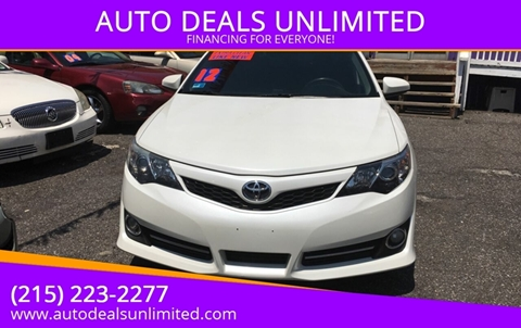 2012 Toyota Camry for sale at AUTO DEALS UNLIMITED in Philadelphia PA