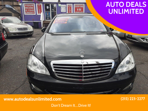 2007 Mercedes-Benz S-Class for sale at AUTO DEALS UNLIMITED in Philadelphia PA