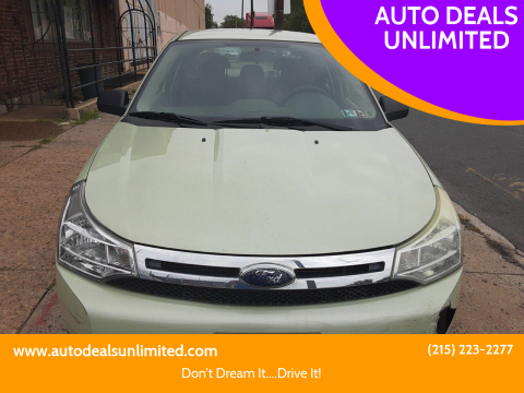2010 Ford Focus for sale at AUTO DEALS UNLIMITED in Philadelphia PA