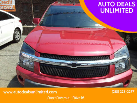 2006 Chevrolet Equinox for sale at AUTO DEALS UNLIMITED in Philadelphia PA