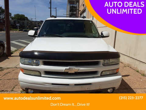 2004 Chevrolet Tahoe for sale at AUTO DEALS UNLIMITED in Philadelphia PA