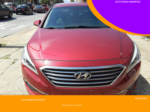 2015 Hyundai Sonata for sale at AUTO DEALS UNLIMITED in Philadelphia PA