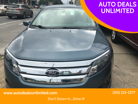 2011 Ford Fusion for sale at AUTO DEALS UNLIMITED in Philadelphia PA