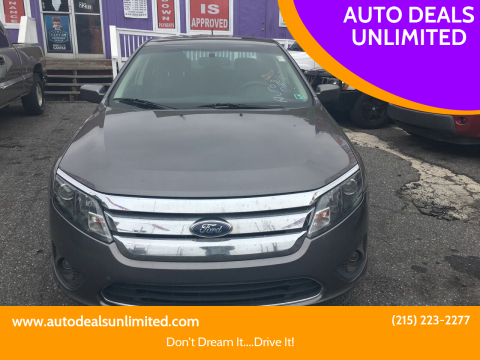 2010 Ford Fusion for sale at AUTO DEALS UNLIMITED in Philadelphia PA