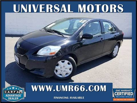 2012 Toyota Yaris for sale at Universal Motors in Glendora CA
