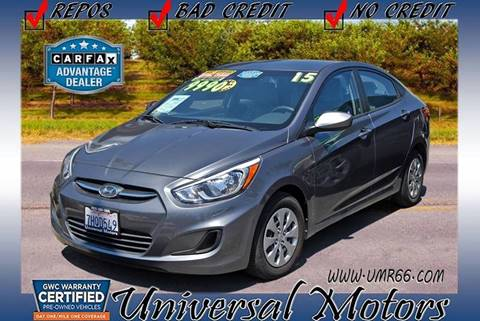2015 Hyundai Accent for sale at Universal Motors in Glendora CA