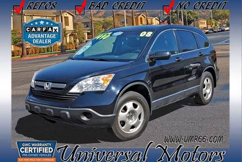 2008 Honda CR-V for sale at Universal Motors in Glendora CA