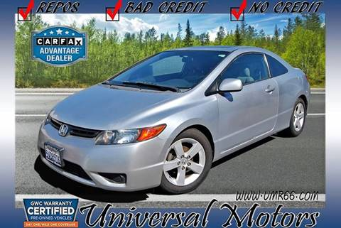 2007 Honda Civic for sale at Universal Motors in Glendora CA
