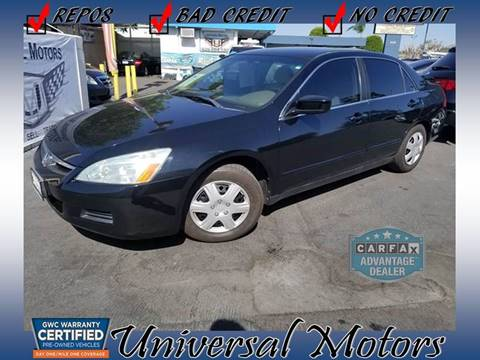 2006 Honda Accord for sale at Universal Motors in Glendora CA