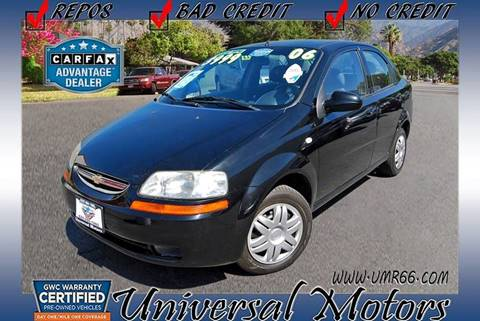 2006 Chevrolet Aveo for sale at Universal Motors in Glendora CA
