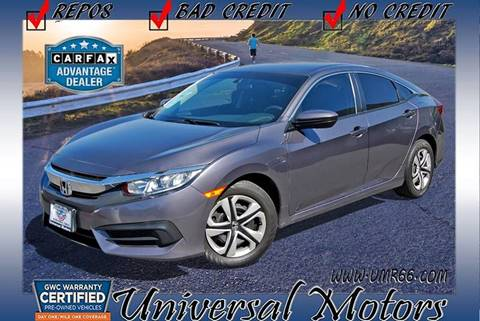 2016 Honda Civic for sale at Universal Motors in Glendora CA