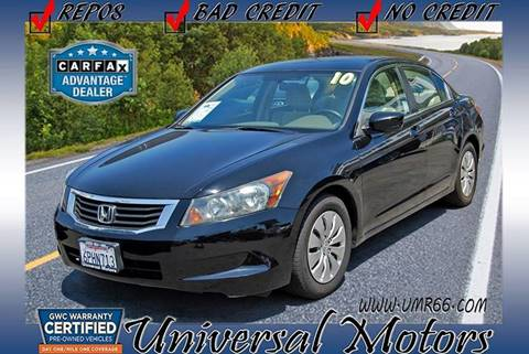 2010 Honda Accord for sale at Universal Motors in Glendora CA