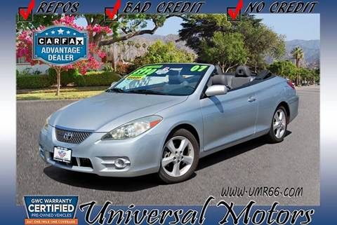 2007 Toyota Camry Solara for sale at Universal Motors in Glendora CA