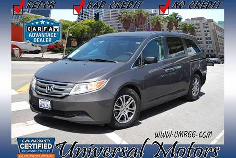 2012 Honda Odyssey for sale at Universal Motors in Glendora CA