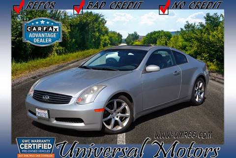 2005 Infiniti G35 for sale at Universal Motors in Glendora CA