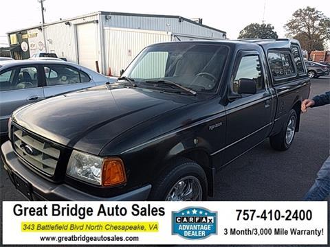 2002 Ford Ranger for sale in Chesapeake, VA