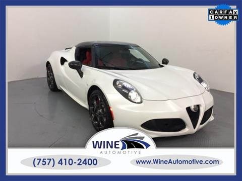 2017 Alfa Romeo 4C for sale in Chesapeake, VA
