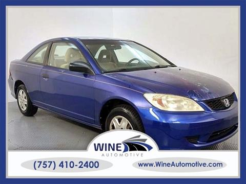 2005 Honda Civic for sale in Chesapeake, VA